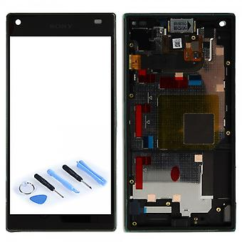 Sony display LCD complete unit with frame for Xperia Z5 compact E5803 E5823 black