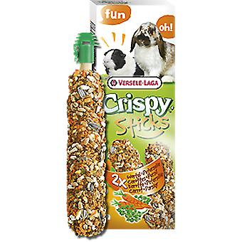 Versele Laga Sticks Rabbits and Guinea Pigs Carrot & Parsley 2 Pieces (Roedores , Snacks)