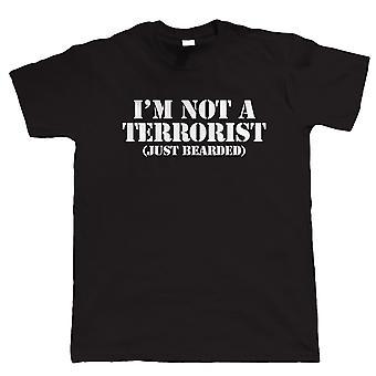 Ik ben niet een Terrorist, Mens grappig baard T Shirt