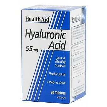 Health Aid 55 mg d'acide hyaluronique. 30comp. Health Aid