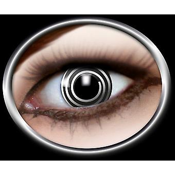 Contact lenses white spiral sw 1 pair Carnival Halloween