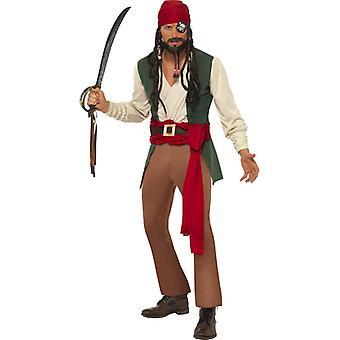 Piratenkostüm Karibik Fluch Herren Pirat Seeräuber Kostüm