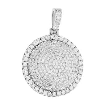 Premium Bling - 925 sterling silver DOME pendant