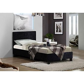Birlea 90cm Berlin Bed Black Crushed Velvet