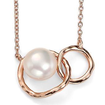 925 Silver Rose Gold Plated And Pearl Necklace Trend