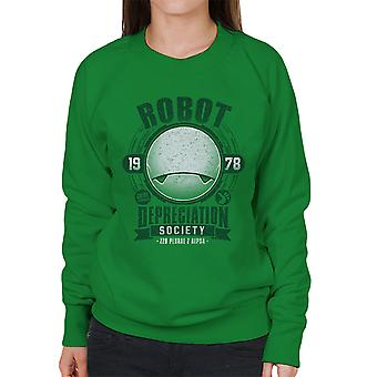 Robot Depreciation Society Hitchhikers Guide Women's Sweatshirt