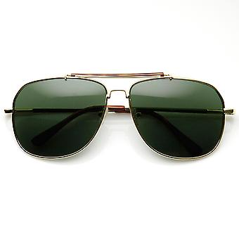 Classic Square fuld Metal ramme overligger Aviator solbriller