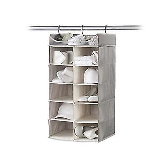 Neatfreak 2X5 Hanging Organizer with Top Shelf - Harmony Twill (Gray)