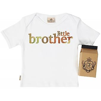 Spoilt Rotten Little Brother Babys T-Shirt 100% Organic In Milk Carton