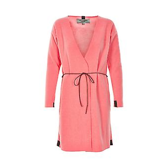 Henriette Steffensen Womens fleece snuggle coat in coral