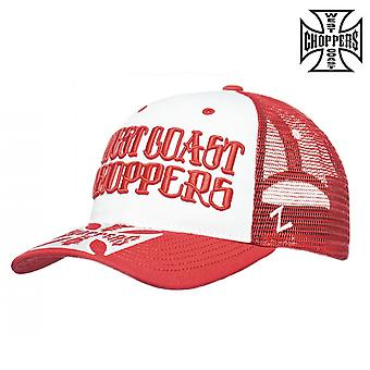 West Coast choppers mössa koppling loggan runda Bill trucker hatt
