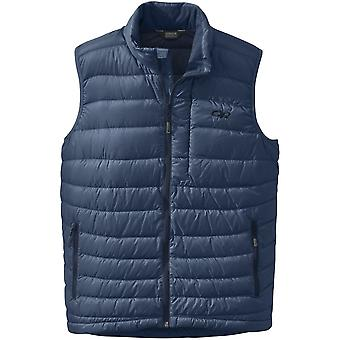 Outdoor Research Mens Transcendent Down Vest Dusk/Night (Large)