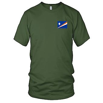 Marshall Islands Country National Flag - Embroidered Logo - 100% Cotton T-Shirt Kids T Shirt