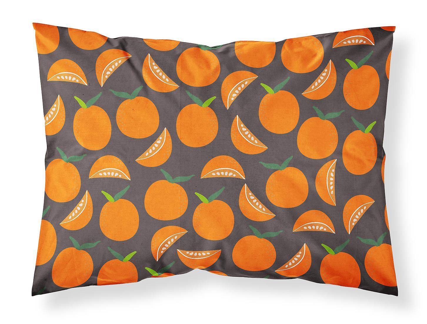 Standard Bb5142pillowcase Carolines Tissu Gris Sur D'oreiller Trésors Oranges Taie 4jqARL53