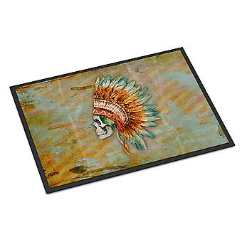 Day of the Dead Indian Skull  Indoor or Outdoor Mat 24x36