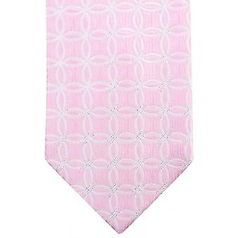 Sorrento Link Pattern Tie - Light Pink/White