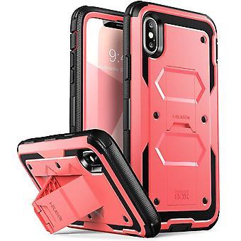 caso del iPhone X, [Armorbox] i-Blason construido en [Protector de pantalla] [todo el cuerpo] [protección de servicio pesado] [soporte], Iphone X