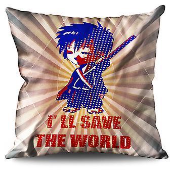 Anime Samurai Slogan Cool cuscino in lino Anime Samurai Cool Slogan | Wellcoda