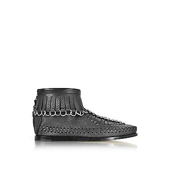 Alexander Wang women's 306101001 black leather ankle boots