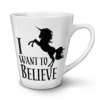 Einhorn-Slogan neuer weißer Tee Kaffee Keramik Latte Becher 17 oz   Wellcoda