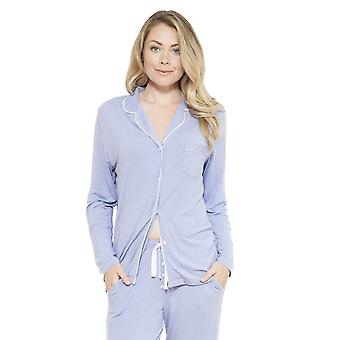 Cyberjammies 3626 Women's Polly Lilac Solid Colour Pajama Pyjama Top