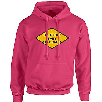Caution Baby On Board Unisex Hoodie 10 Colours (S-5XL) by swagwear
