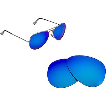Best SEEK Polarized Replacement Lenses for Ray Ban 3025 58mm AVIATOR Blue Mirror