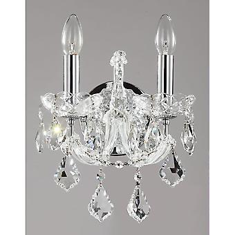 Maytoni Lighting Inverno Diamant Crystal Collection Sconce, Silver