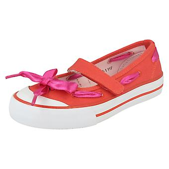 Girls Startrite Summer Canvas Shoes Ribbon