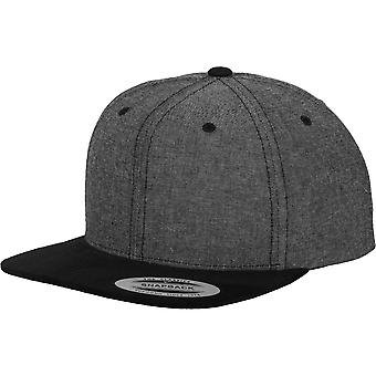 Flexfit by Yupoong Mens Classic Imitation Chambray-Suede Snapback Cap