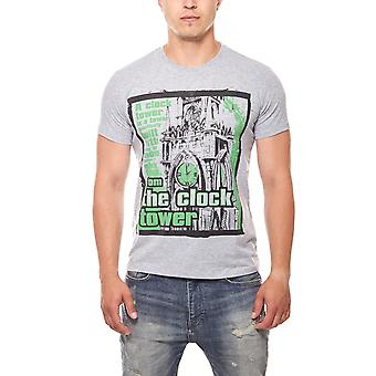 RUSTY NEAL Tower men's T-Shirt grey the clock