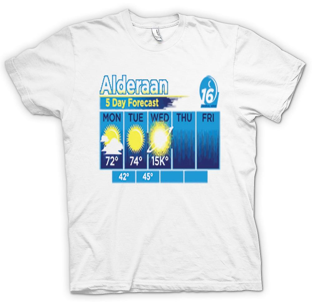 Womens T-shirt - Alderaan 5 Day Weather Forcast - Star Wars