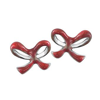 Orphelia Silver 925 Kids Earring Red Bow  ZO-6059