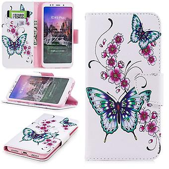 For Huawei P20 leatherette bag book motif 31 protection sleeve case cover pouch new