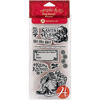 Graphic 45 St Nicholas Cling Stamps-#3