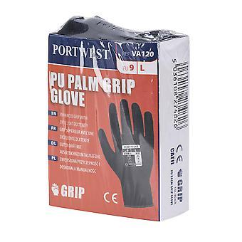 Portwest Mens 13 Gauge Automaten gefüttert PU Palm Handschuhe (6 Paar Pack)