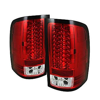 Spyder Auto ALT-YD-GS07-LED-RC GMC Sierra 1500/2500HD Red/Clear LED Tail Light