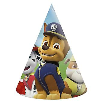 Paw patrol party hats 6 piece children birthday theme party