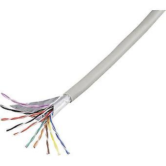 Teléfono cable J-Y (ST) Y 10 x 2 x 0,60 mm gris componentes de Conrad 1226970 10 m