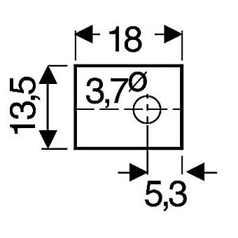 Mica sheet (L x W) 18 mm x 13.5 mm Suitable for TOP 66 Fischer Elektronik GS 66 P 1 pc(s)