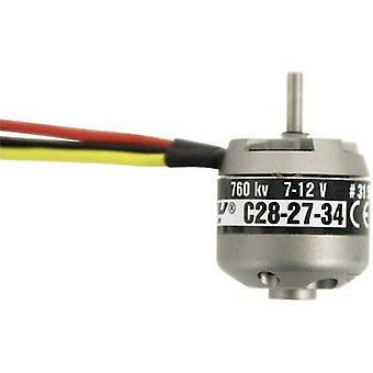 Model aircraft brushless motor BL Outrunner 2827-34 7-12 V ROXXY kV (RPM per volt): 760