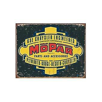 Metal Sign Mopar Logo ' 37-'47