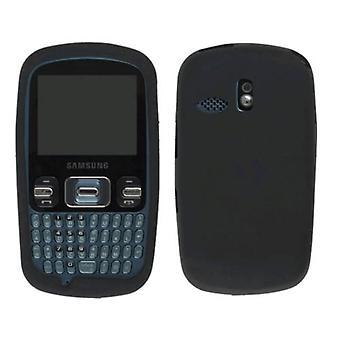 Wireless Solutions Silicone Gel Case for Samsung SCH-R350 (Black)