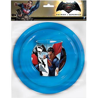 Batman VS Superman lunch Set 3 pieces