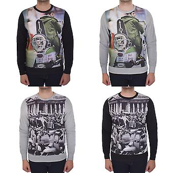 Lambretta Mens Sublimation Print Long Sleeve Sweatshirt Jumper Pullover