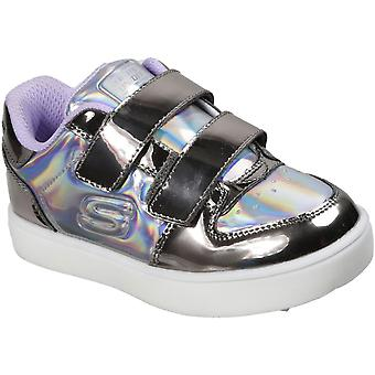 Skechers Girls Energy Lights Touch Fastening Trainers