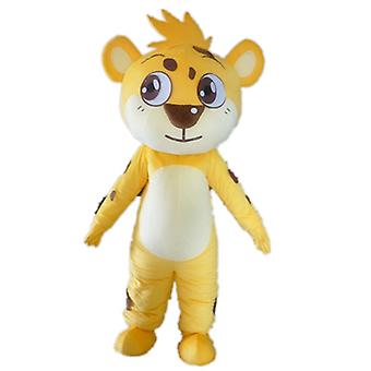 mascot Tiger yellow, white and Brown, sweet SPOTSOUND