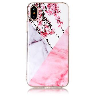 TPU Shell marble to the iPhone X-Plum