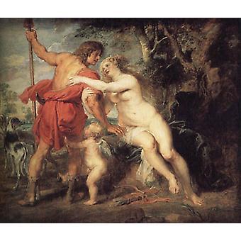 Venus and Adonis, Peter Paul Rubens, 60x50cm