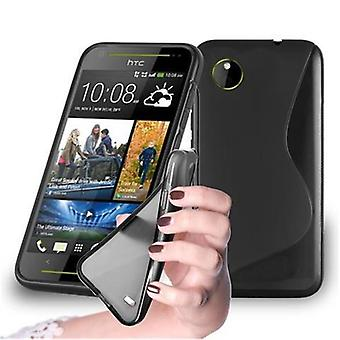 Cadorabo case for HTC desire 700 - cell phone cover from flexible TPU silicone in the S-line design - silicone case cover soft back cover case bumper